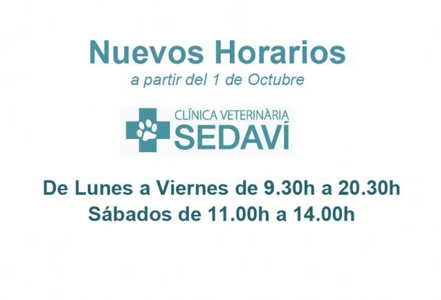 Nuevos horarios Clínica Veterinaria Sedaví
